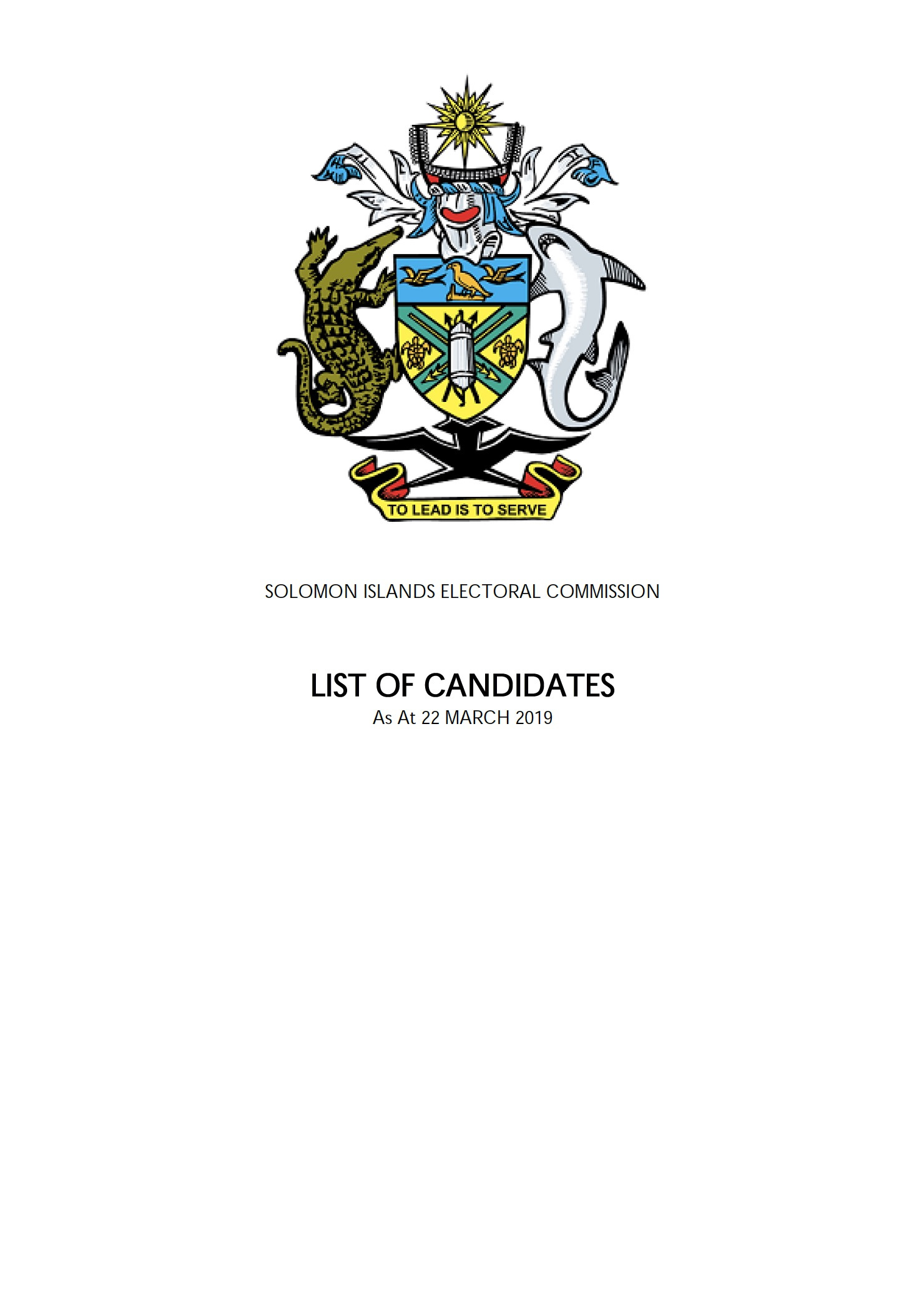 Final List of Candidates 2019