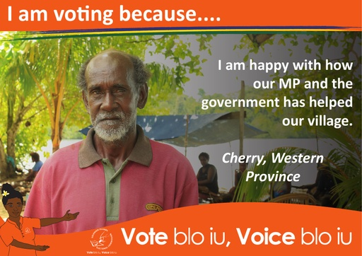 Cherry - I am voting because