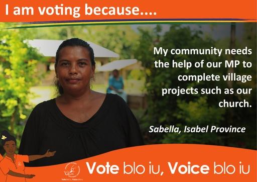 Sabella - I am voting because