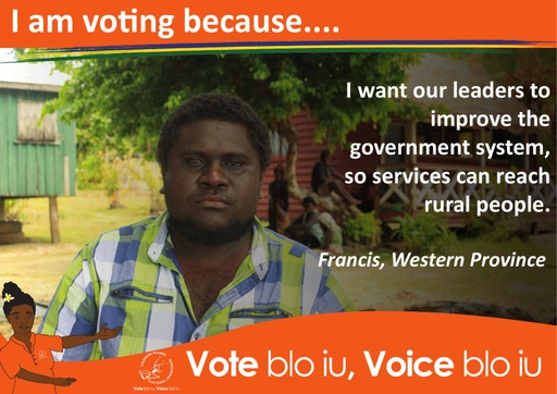 Francis - I am voting because