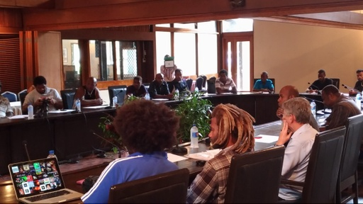 Media Professionals during one of the election media training workshops held at Mendana Hotel